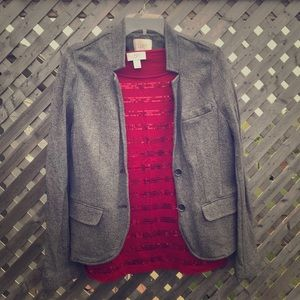 Loft sweatshirt coat size LP
